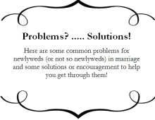 Blog-Newlywed Problems